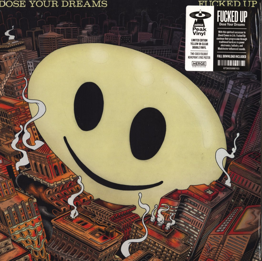 Fucked Up - Dose Your Dreams - Ltd Ed, Yellow In Clear Colored Double Vinyl, Merge, 2018