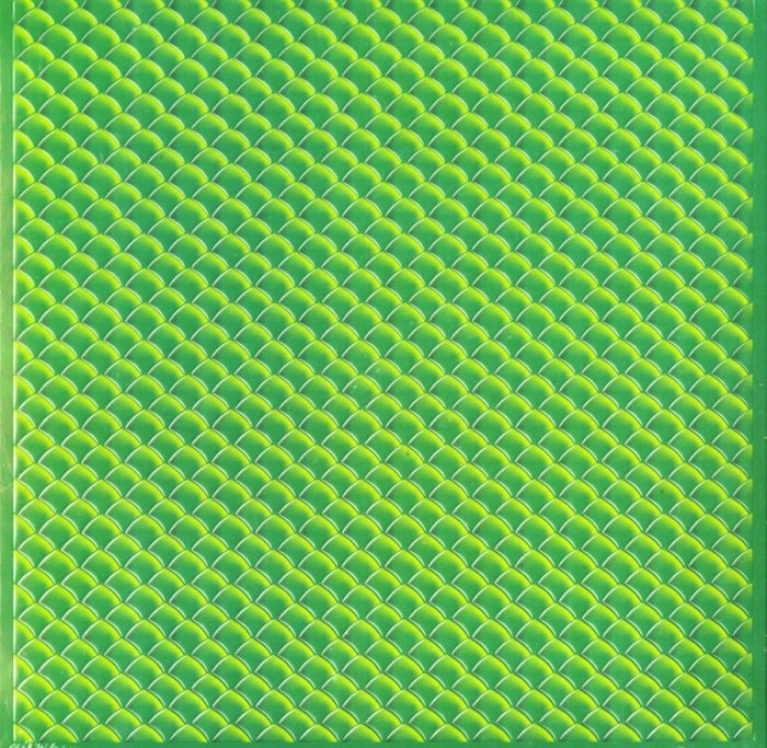"""The Mountain Goats - In League With Dragons - Dragon Scale Slipcase, Yellow, Green, 2XLP + 7"""", Merge Records, 2019"""