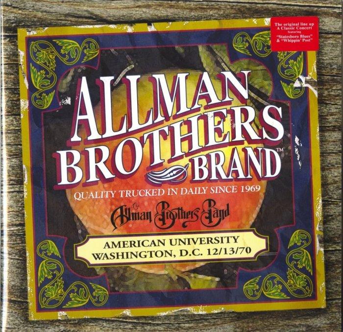 The Allman Brothers Band - American University Washington D.C.12-13-70, Double Vinyl, Reissue, 2019