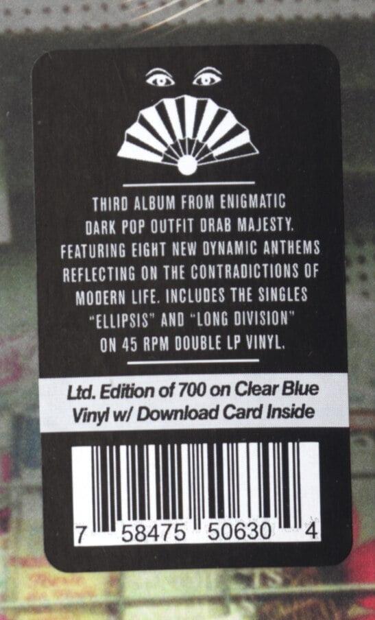 Drab Majesty - Modern Mirror - Limited Edition, Clear Blue Vinyl, LP, Dais, 2019