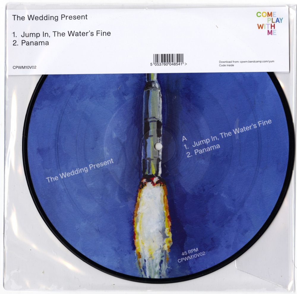 """The Wedding Present - Jump In The Water's Fine - Panama, 10"""" Vinyl, Picture Disc, 2019"""
