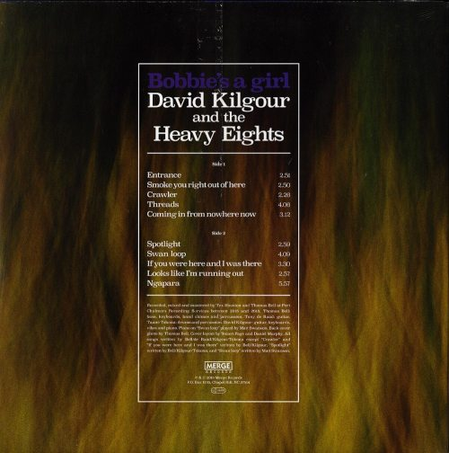 David Kilgour and the Heavy Eights - Bobbie's A Girl - Ltd Ed, Red, Colored Vinyl, Merge Records, 2019