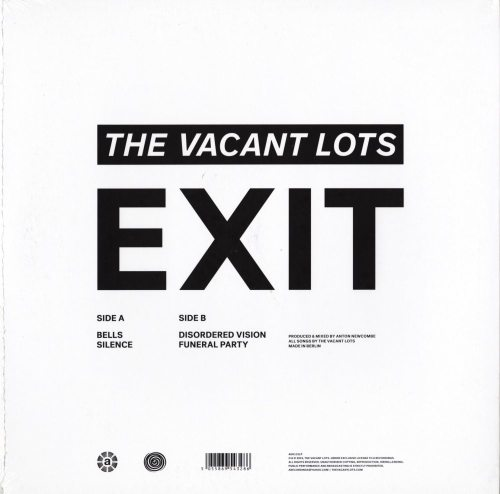 "Vacant Lots - Exit - 12"", Vinyl, EP, A. Records, 2019"
