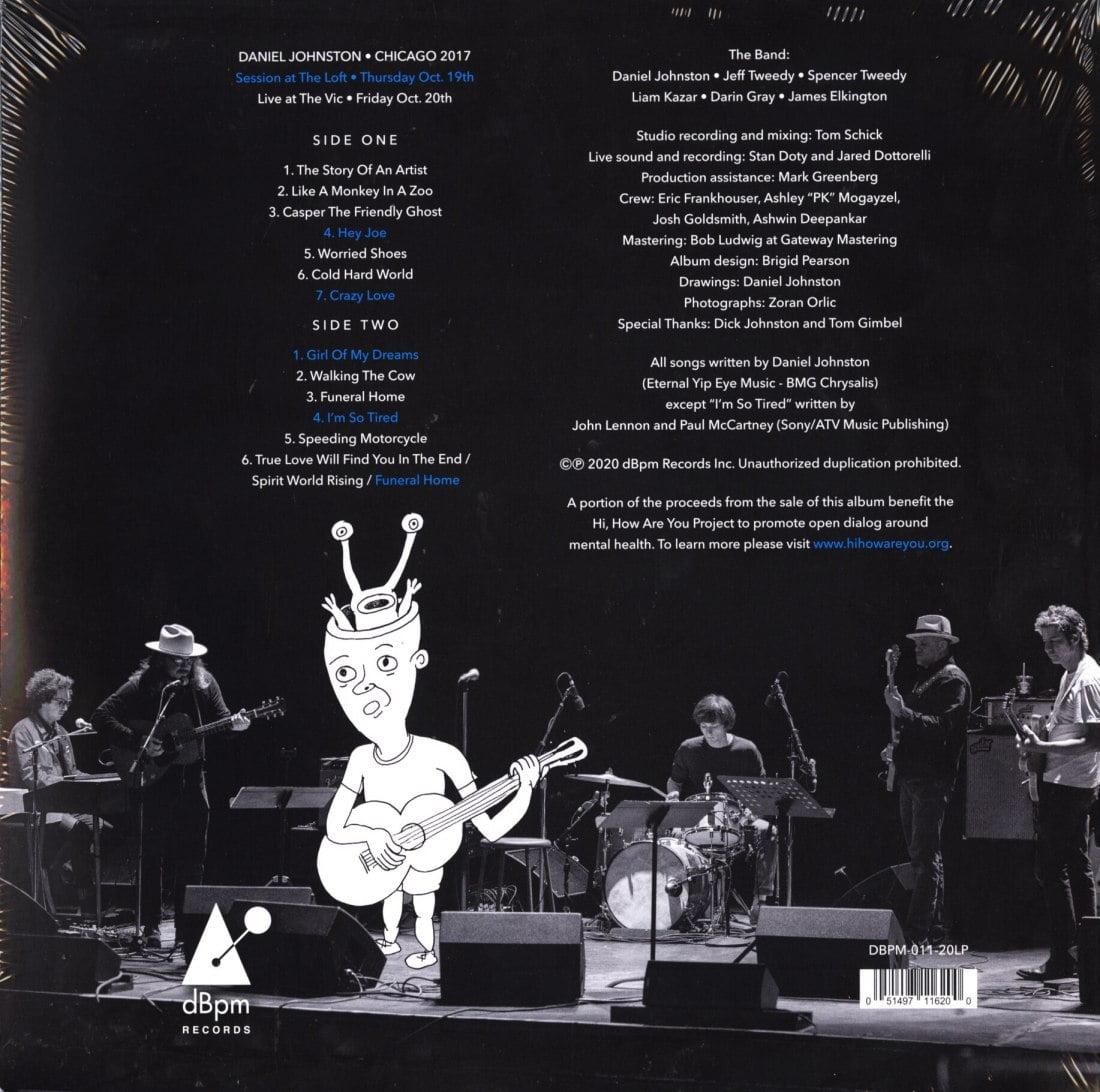 Daniel Johnston - Chicago 2017 - Limited Edition, Colored Vinyl, DBPM Records, 2020