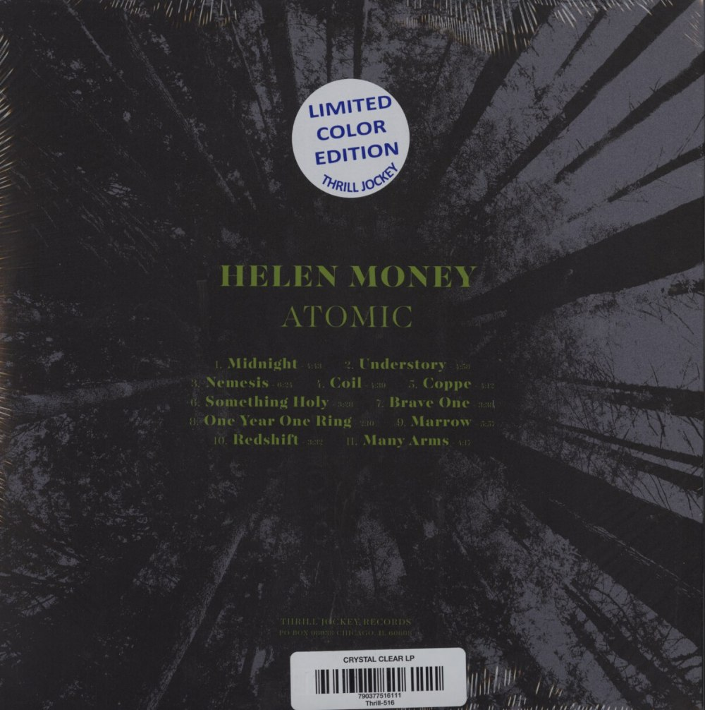 Helen Money - Atomic - Limited Edition, Clear Vinyl, Thrill Jockey Records, 2020
