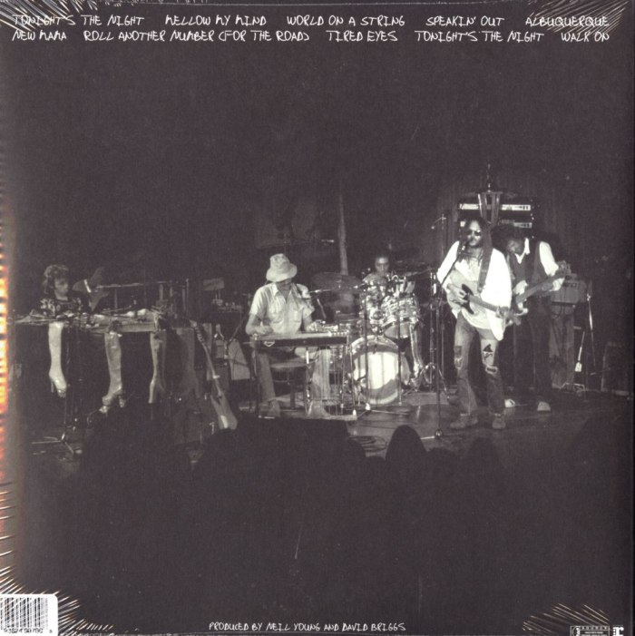 Neil Young - Roxy - Tonight's The Night Live - 2XLP, Double Vinyl, WEA, 2018