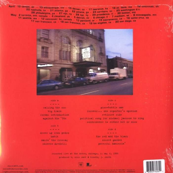 Mike Watt - Ring Spiel Tour 95 - Ltd Ed, Orange, Colored Vinyl, 2XLP, Grohl, Vedder, Sony, 2016