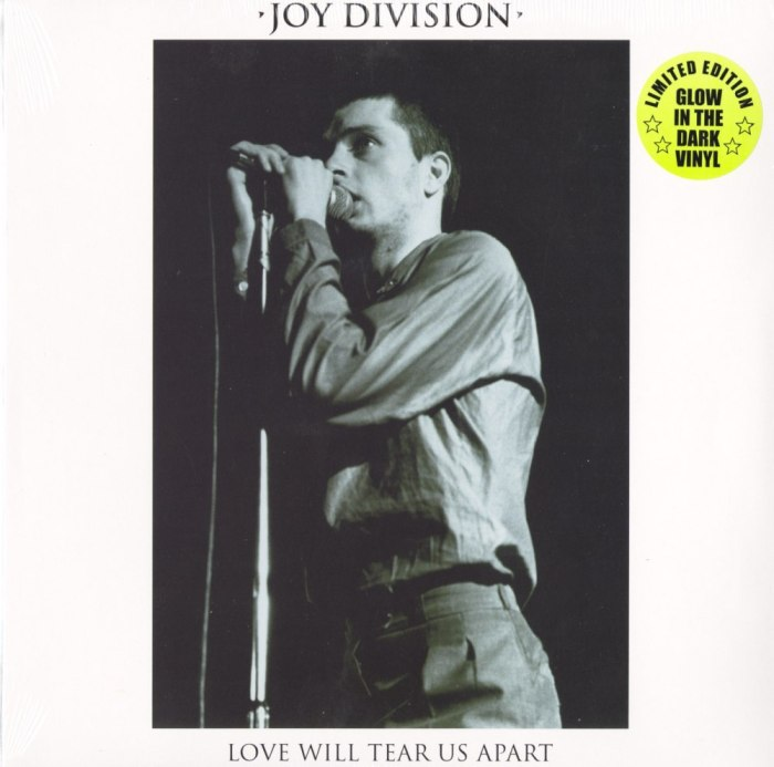 "Joy Division - Love Will Tear Us Apart - 12"", Glow-In-The-Dark Vinyl, Cleopatra, 2020"