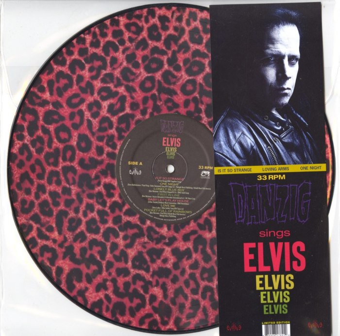 "Danzig Sings Elvis, Limited Edition ""Leopard Print"" Picture Disc Version, Cleopatra, 2020"