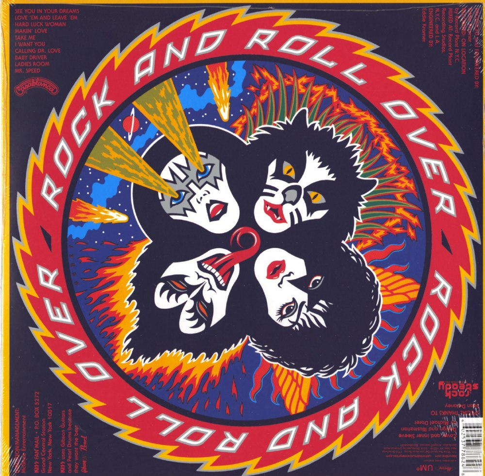 KISS - Rock And Roll Over - Limited Edition, 180 Gram, Vinyl, LP, Reissue, Universal, 2014