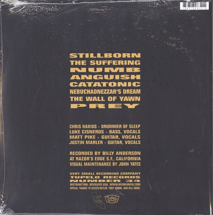 Sleep - Volume One - Vinyl, LP, Tupelo Records, 2015