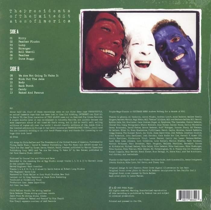 The Presidents Of The United States Of America - POTUSA - 160 Gram, Vinyl, LP, Reissue, Pusacorp, 2020