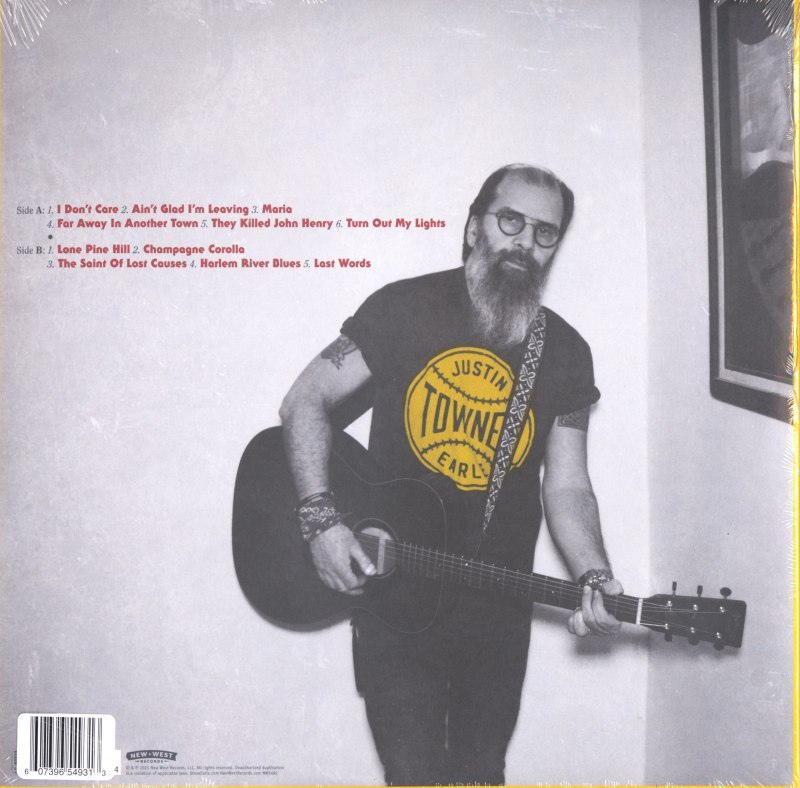 Steve Earle & the Dukes - J.T. - Limited Edition, Red, Colored Vinyl, LP, New West, 2021