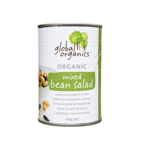 Global Organics Beans Mixed Bean Salad Organic 400g
