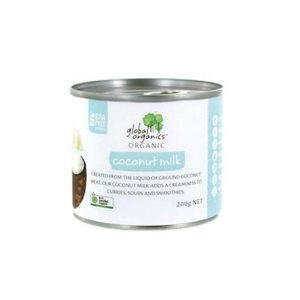 Global Organics Coconut Milk Organic Single 17% fat 200g