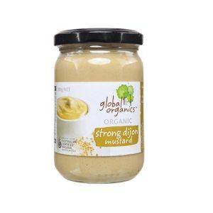 Global Organics Mustard Strong Dijon Organic 200g