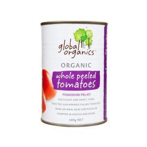 Global Organics Tomatoes Whole Peeled Organic 400g