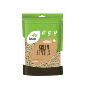 Lotus Lentils Green Organic 250g