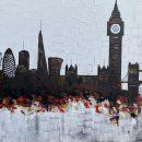 London night skyline abstract painting 114
