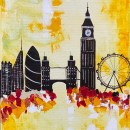 London Yellow Skyline Abstract 207