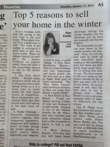 Lisa Priest's Weekly Column which is published in the Palestine Herald Press in the Saturday Edition.