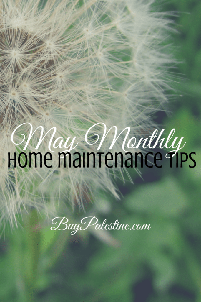 May 2015 Home Maintenace Tips Palestine TX Real Estate
