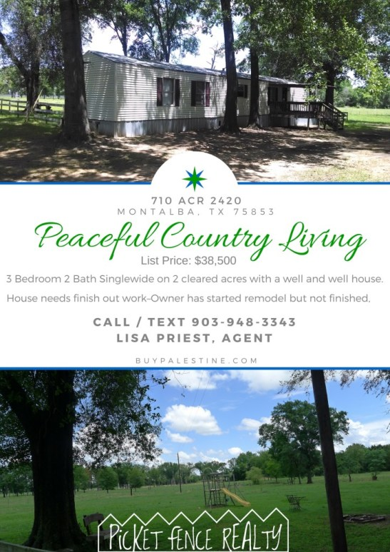 Peaceful Country Living in Montalba, Texas 75835