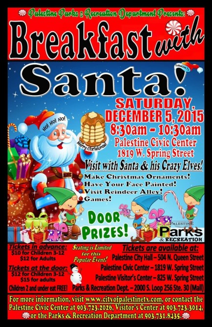 2015 breakfast with santa palesitne tx