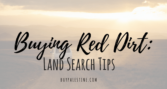 Buying Red Dirt Land Search Tips