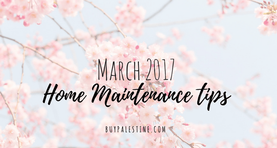 March 2017 Home Maintenance Tips for your Palestine TX House