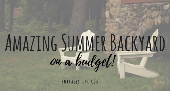 An Amazing Summer Backyard on a Budget!
