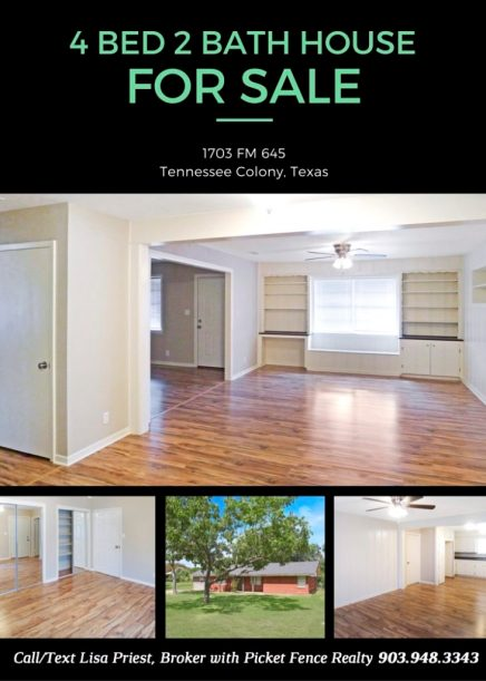 House for Sale Spotlight: 1703 FM 645, Tennessee Colony, TX