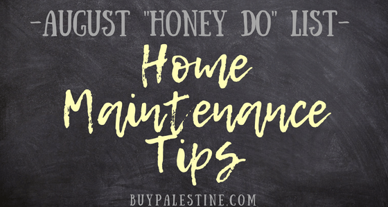 "August Home Maintenance ""Honey Do"" List"