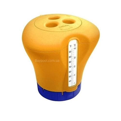 Дозатор Kokido K619BU оранжевый с термометром