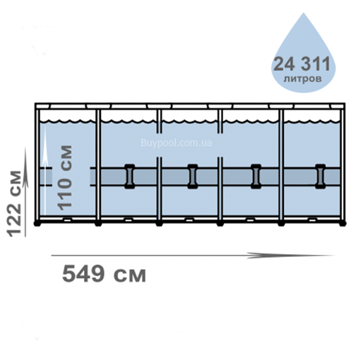 Каркасный бассейн Intex 26744