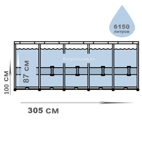 Каркасный бассейн MAX Bestway 14415