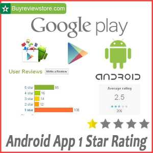Buy Android App 1 Star Rating