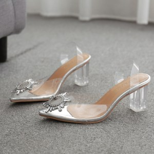 Transparent PVC High Heel