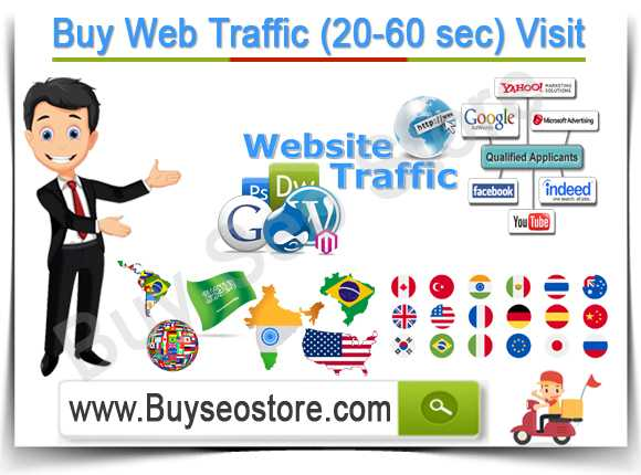 Buy Web Traffic (20-60 sec) Visit