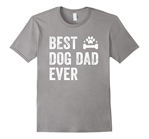 Men's Best Dog Dad Ever T-Shirt 2XL Slate