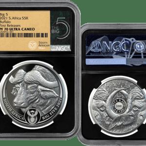 buy 2021 south africa big 5 buffalo 1oz silver proof coin