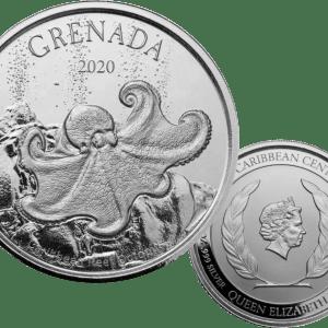 buy 1oz silver 2020 grenada octopus coin