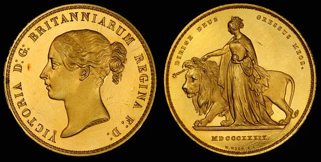 Una and the lion coin
