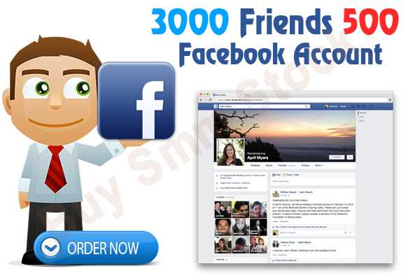 Buy Real Facebook Accounts with Friends