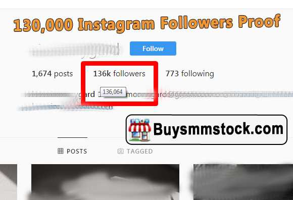 130,000 Instagram Followers Proof