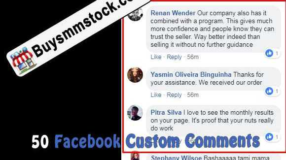 50 Facebook Custom Comments