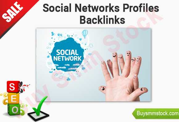 Social networks profiles backlinks