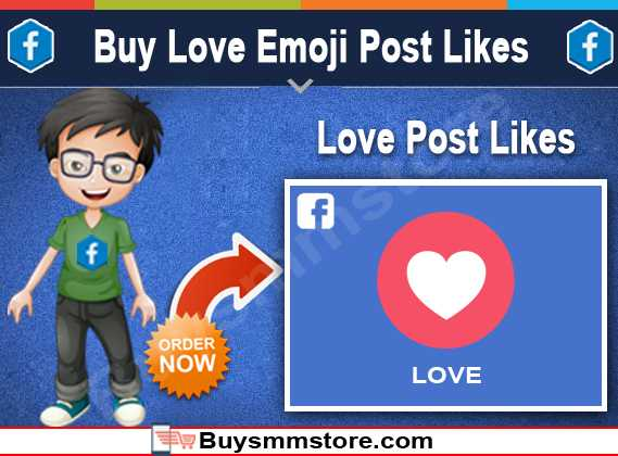 Buy Love Emoji Post Likes