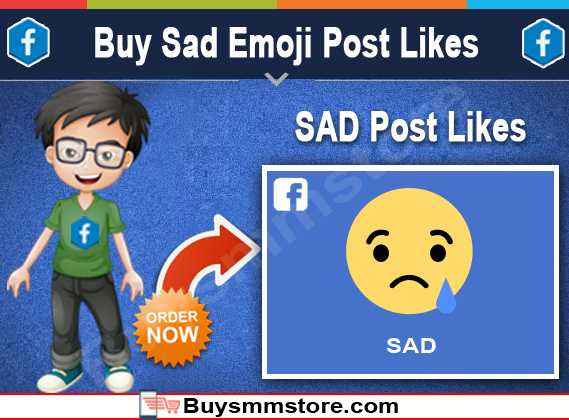 Buy Sad Emoji Post Likes