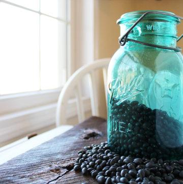 a jar of beans